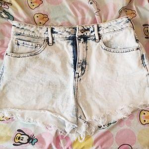 Pacsun Hollywood Blue HighRise Cutoff Denim Shorts